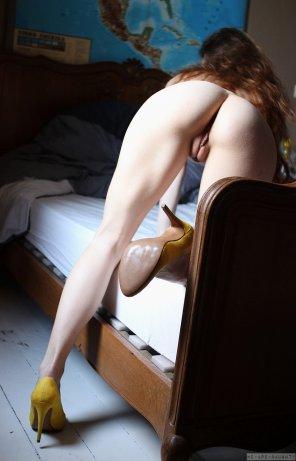 amateur photo Goosebumps and high heels