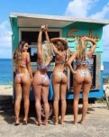 amateur photo Four bikini butts