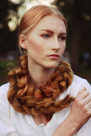 amateur photo Braided Red Hair