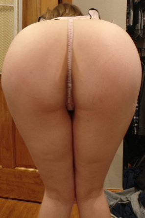 amateur photo My wife's ass in a thong