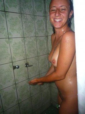 amateur photo Shower Surprise