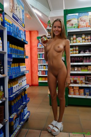 amateur photo Stocking the shelves