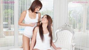 amateur photo Sensual lesbian lovemaking by Kristina Miller and Suzy Rainbow