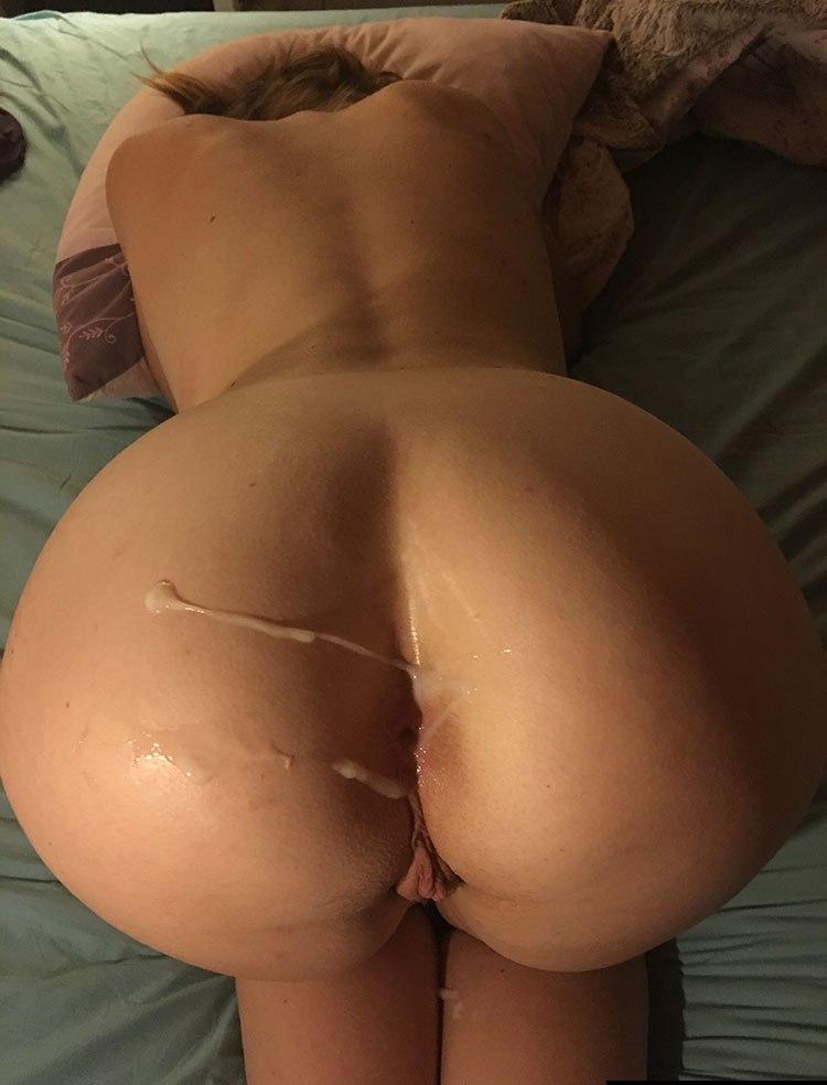 Jizz in ass