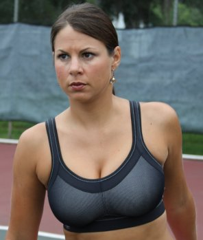 amateur photo Something about this girl in a sports bra