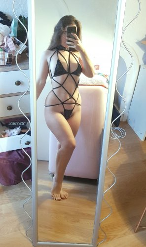 amateur photo I'm back with a very nsfw harness! [oc]