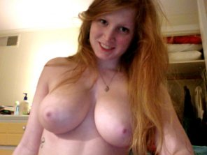 amateur photo Busty and happy