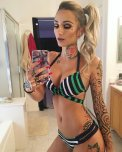 amateur photo Striped bikini