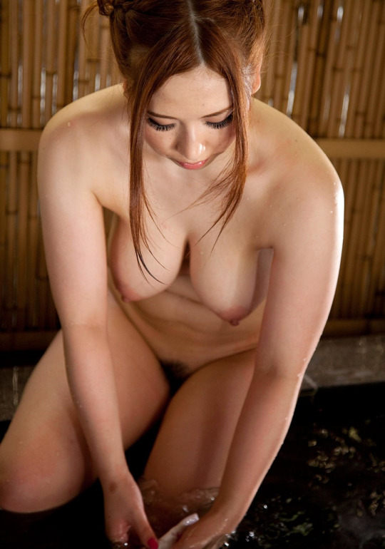 Ai Sayama at the on-sen Porn Photo