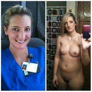 amateur photo On/Off Scrubs