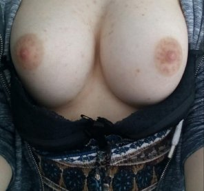 amateur photo Tell me how much you like my boobs.
