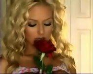 Very hot Blonde stripping - scene 2