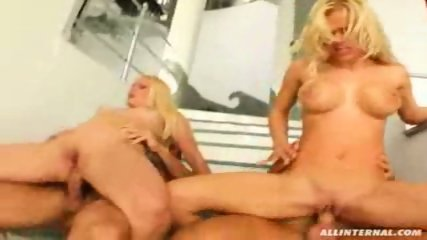Hot blondes get hammered in every way - scene 12
