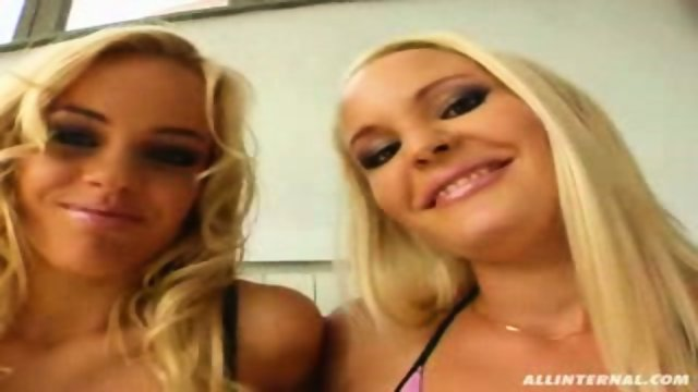 Hot blondes get hammered in every way