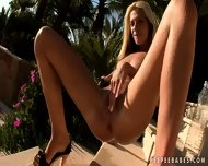 Hot Blonde Showing Her Pussy - scene 9