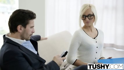 TUSHY Hot Secretary Kate England Gets Anal From Client - scene 3