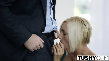 TUSHY Hot Secretary Kate England Gets Anal From Client - scene 6