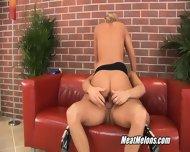 Sweet Blonde Girl Angie Tastes Cock - scene 4