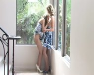 Two Lesbian Friends Play In The Corner - scene 1