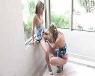 Two Lesbian Friends Play In The Corner - scene 10