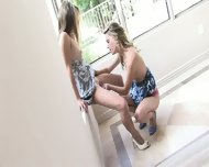 Two Lesbian Friends Play In The Corner - scene 11