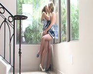 Two Lesbian Friends Play In The Corner - scene 2