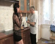 Mature Couple Prepare Dinner In The Kitchen - scene 1