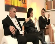 Fantastic Threesome With Elegant Women - scene 1