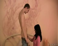 Black Haired Hottie Jumps On Young Dick - scene 1