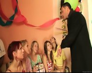 Blonde Agnes Has Great Fun At Party - scene 1