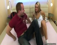 Lucie And Her Boyfriend Test New Bed - scene 1