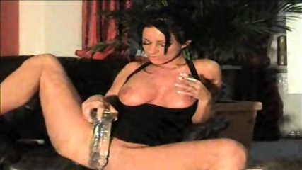 Slut Samira pees on Dildo and smokes - scene 11