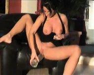 Slut Samira pees on Dildo and smokes - scene 3