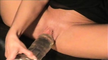 Slut Samira pees on Dildo and smokes