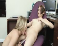 Nerd Lesbians Heidi Lee And Mackenzie Star Have A Break In Work