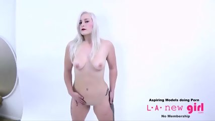 BLONDE GETS FUCKED DURING PHOTO SHOOT CASTING AUDITION - scene 9