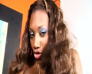 Ebony Slut Nyomi Banxxx Bangs With Black Cock - scene 1