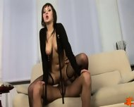 Horny Kristina In Stockings Is Hungry For Cum