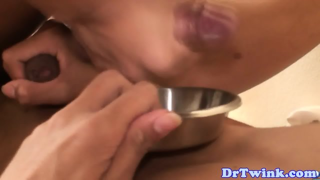 Asian twink bareback pounded by doctor - scene 11