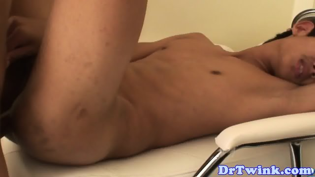 Asian twink bareback pounded by doctor - scene 6