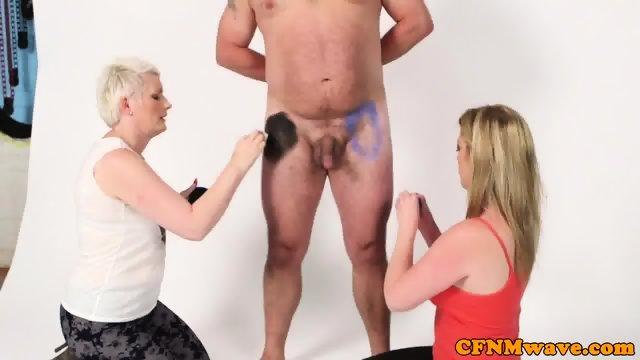 cfnm milfs bodypaint guy