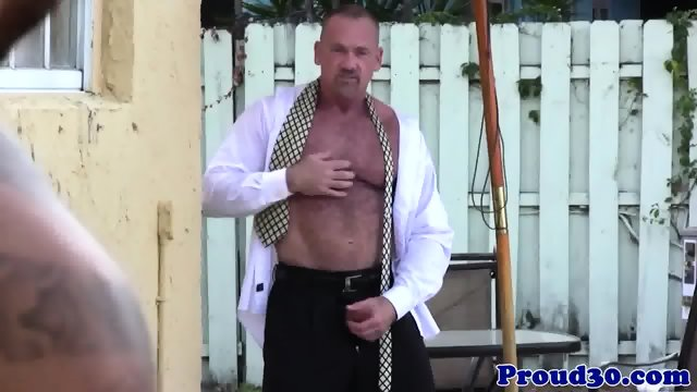 Mature Mickey Collins rimming Rikk Yorks ass