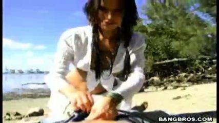 Blowjob On The Beach! - scene 3