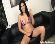 Brunette Girl Fucked Hard Despite Her Panties - scene 1