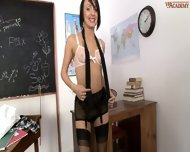 Naughty Schoolgirl Paige Fox Strips In The Classroom