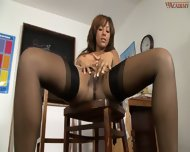 Woman In Stockings Kayla Gets Break Time Pleasures - scene 9