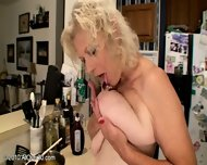 Mature Woman Plays With Banana - scene 3