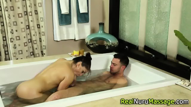 Bathing masseuse slammed