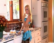 Hot Housewife Works In The Kitchen - scene 2