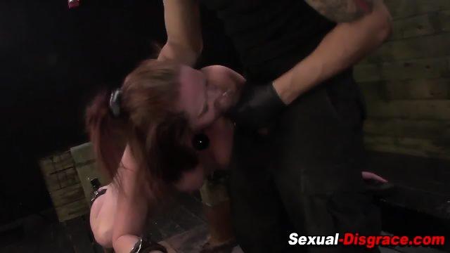Bdsm slave throat fucked